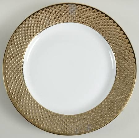 Gold Beaded Appetizer Plates (Set of 4) $30.00