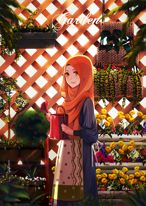 try different style its fun~~ its been awhile i didn't draw Hijab girl...