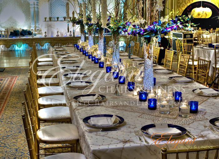 Decorative Chairs Ocean Blue Wedding Table Centerpieces