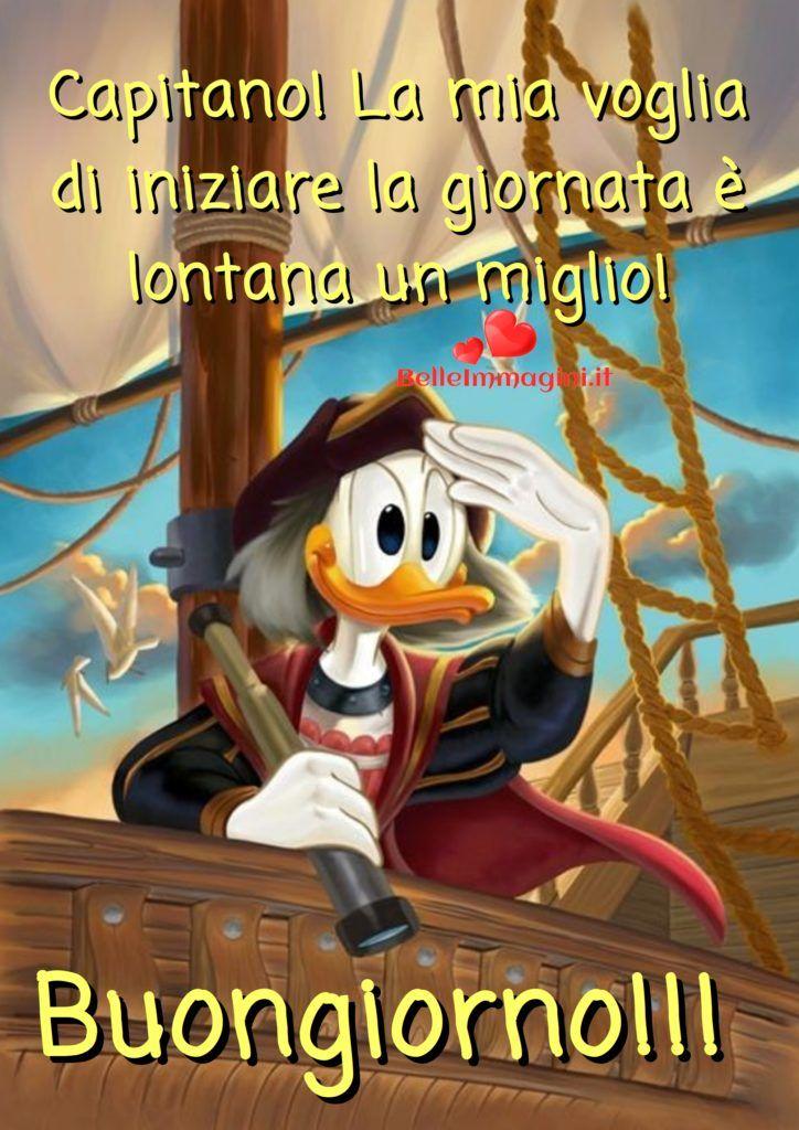 Buongiorno con paperino belle immagini per whatsapp for Immagini divertenti buon giorno