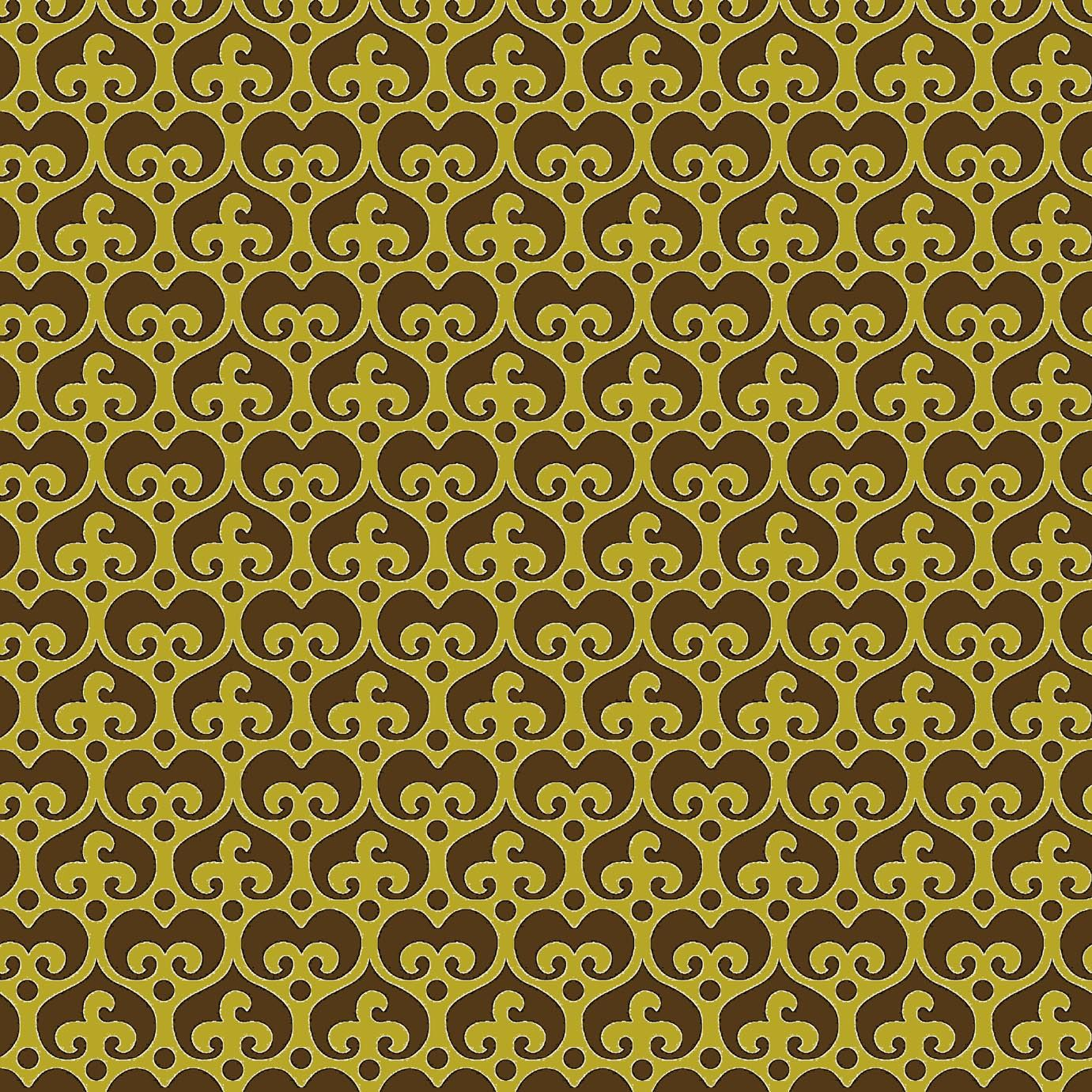 "Mod Damask (Brown) - modern damask design to print on fabric for DIY sewing and crafts. The Textile District prints fabric on demand on the ground fabric you choose. Each image represents 27"" square to show scale of the printed design. #fabrics #textiledistrict"