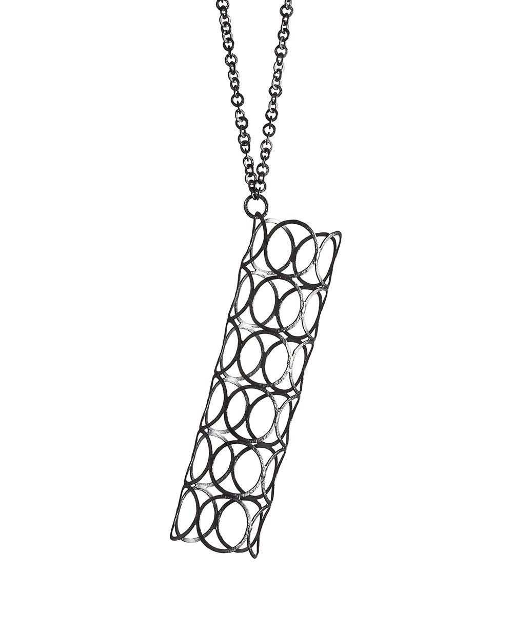 nikolay sardamov. necklace: garden city 2, 2017. blackened silver