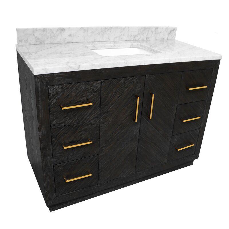 Everly Quinn Beaty 48 Single Bathroom Vanity Set Wayfair In 2020 Bathroom Vanity Single Bathroom Vanity Vanity