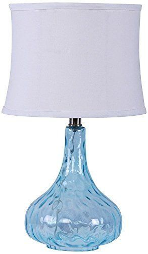 Get this waterstone blue bubble glass table lamp which is a beautiful blue glass bubble lamp that is perfect for your coastal beach home because of its