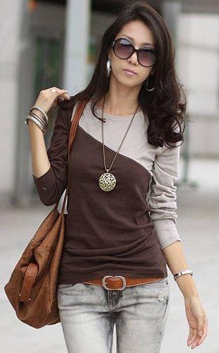 Korean Style Long-sleeve Slim Round Collar Splicing Bottoming T-shirt http://www.chinabuye.com/korean-style-long-sleeve-slim-round-collar-splicing-bottoming-t-shirt $12.16