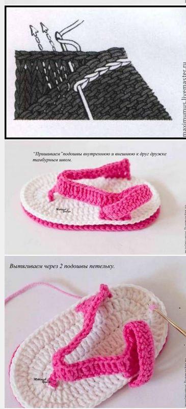 7859f62e2 Cómo tejer sandalias crochet para bebé