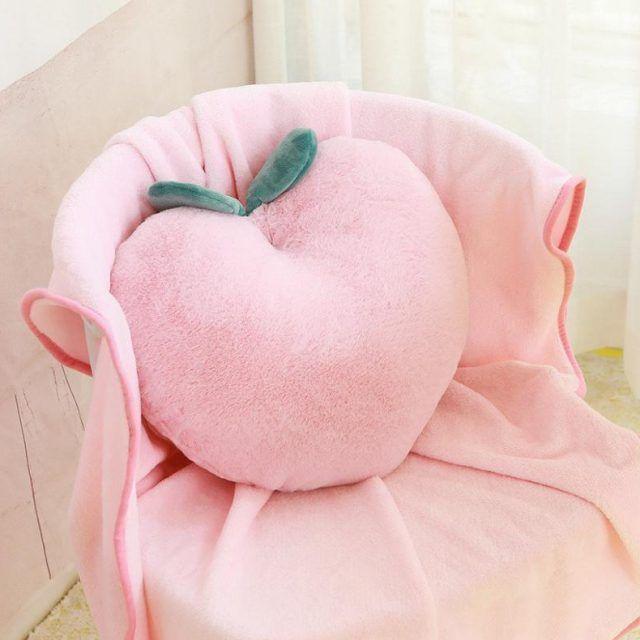 Pink Peach Soft Plush Cushion Pillow | Rainbow Cabin