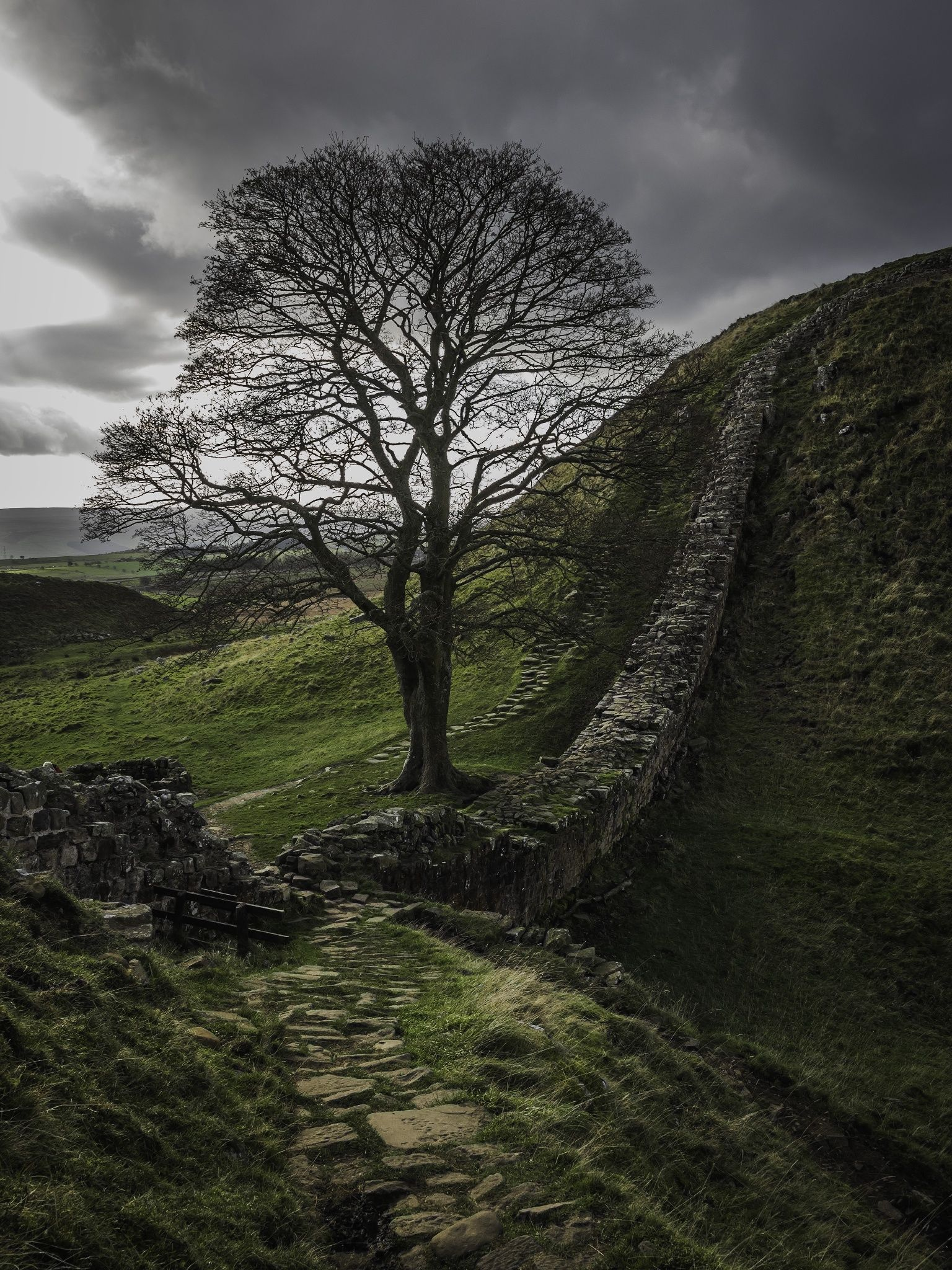 sycamore gap hadrians wall by richard loader on 500px on hadrians wall id=23912