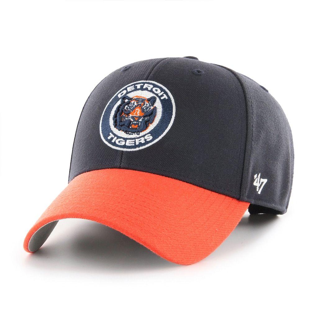 cc0d30b3bef05 Chicago Cubs 47 Brand Vintage Navy Cooperstown Clean Up Adjustable Hat - Detroit  Game Gear
