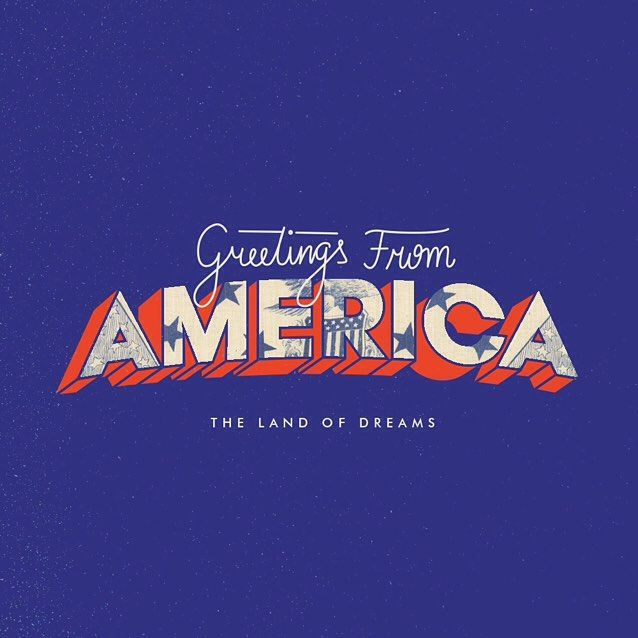 """""""""""Greetings from America"""" this #typetuesday. Have you heard? We're launching Shillington Post 02—The America Issue on Friday at the #shillony graduation! Type by #shillobri teacher @belupramos."""" Photo taken by @shillington_ on Instagram, pinned via the InstaPin iOS App! http://www.instapinapp.com (07/14/2015)"""