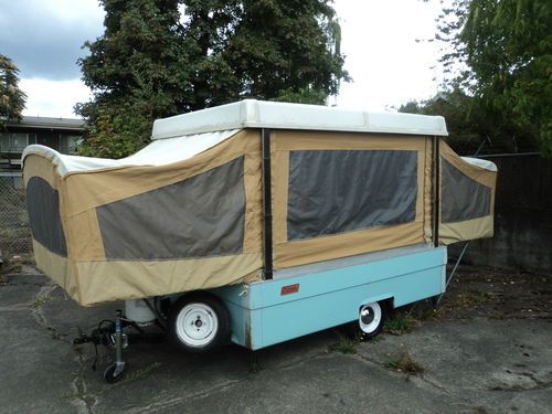 1969 Coleman Pop Up Camper Folding TRAVEL Tent TRAILER