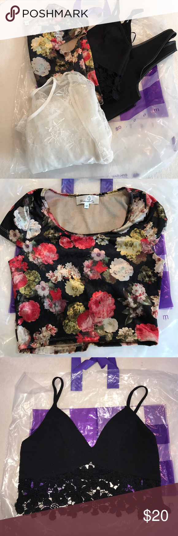 LF tops LF tops all in good condition, all for sale, price includes all. LF Tops Crop Tops