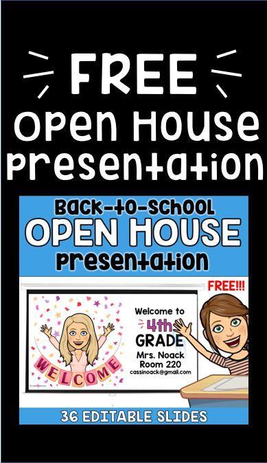 Bitmoji Back to School Open House Presentation