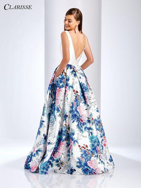 76a72e078c44 Floral Aline Prom Dress 3538 Long Skirtswhite shirt Dresses