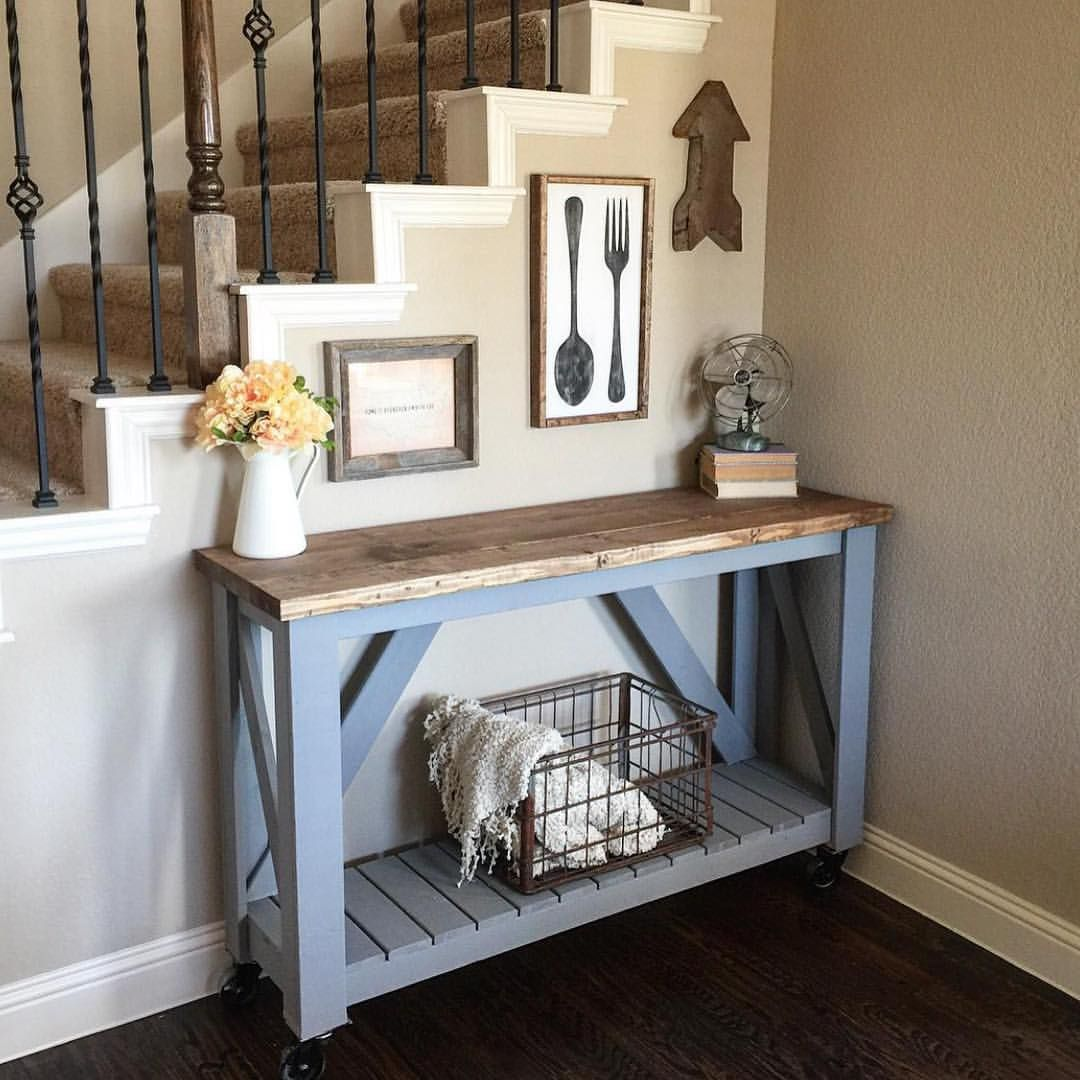 Shanty Sisters On Instagram Check Out This Version Of Ashleys Console Table By Averys Mom LOVE Free Plans Our Site Shanty2chic Hgtv Lovehgtv
