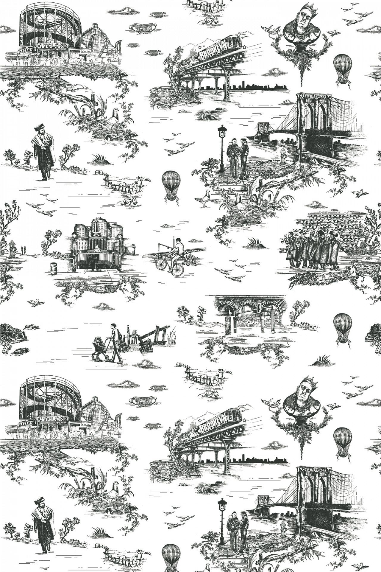 Curbed Gift Guide 15 Perfect New York City Themed Presents Toile Wallpaper Toile Wallpaper