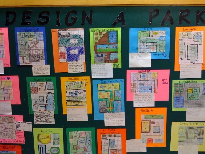 Design a Park - area and perimeter, could do with shapes and ...
