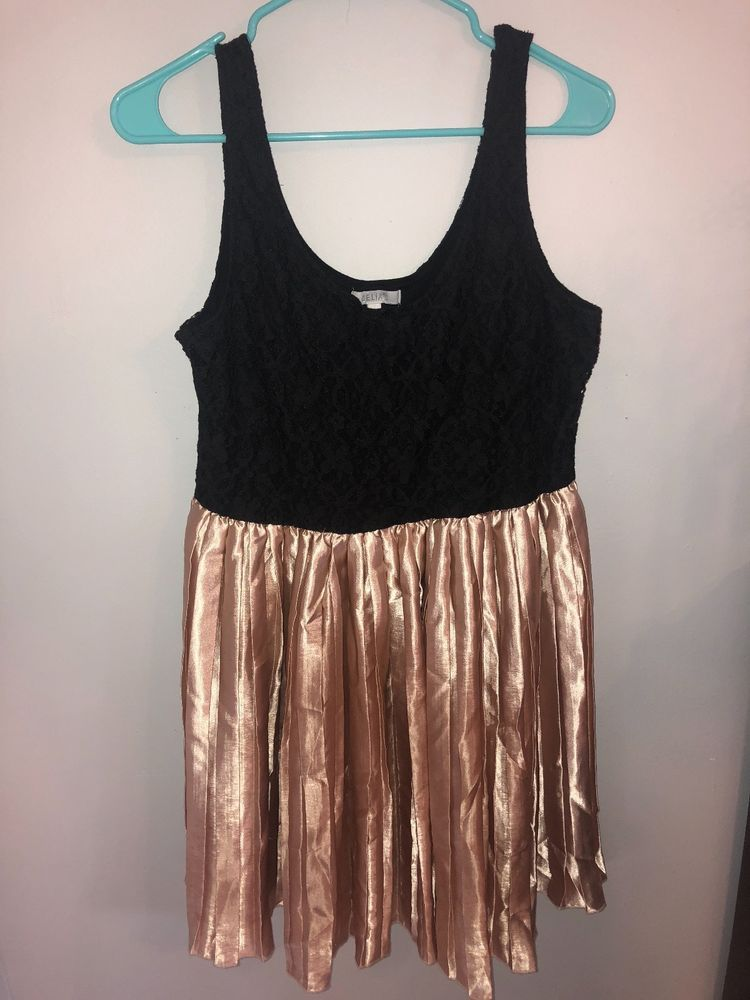 Juniors Black Rose Gold Dress Fashion Clothing Shoes Accessories Womensclothing Dresses Ad Ebay Li Dresses Rose Gold Dress Tank Top Fashion