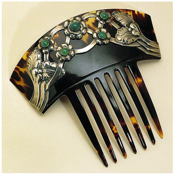 Green Agate Hair Comb