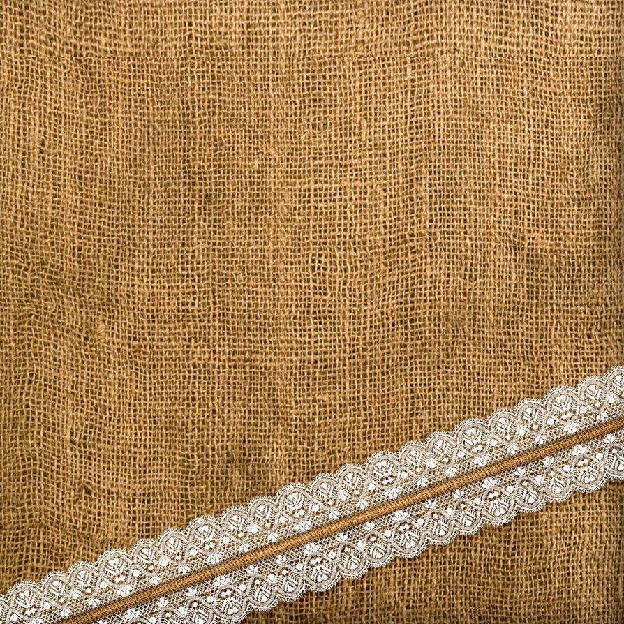 Large Of Burlap And Lace Background