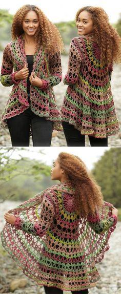 Crochet Circular Jacket Pattern Free Pinterest Best Ideas Lace
