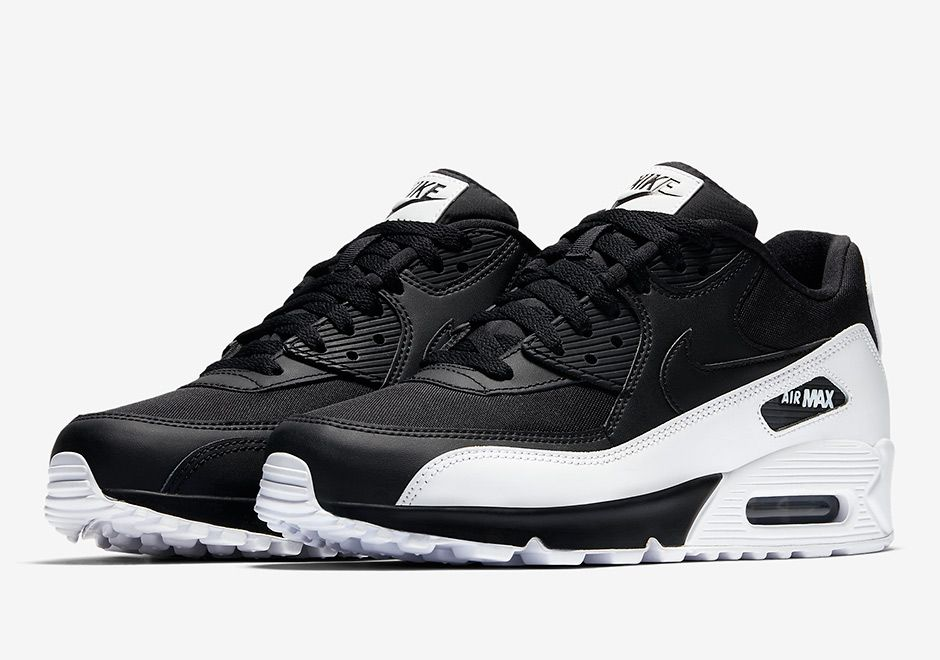 New Style Nike AIR MAX 90 ESSENTIAL High Quality White And Black Zoom Running Shoes Men Shoes 537384 082