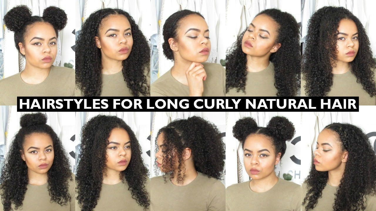 7 Easy Everyday Hairstyles for Long Natural Curly Hair | curls in 2019 | Curly hair styles easy ...