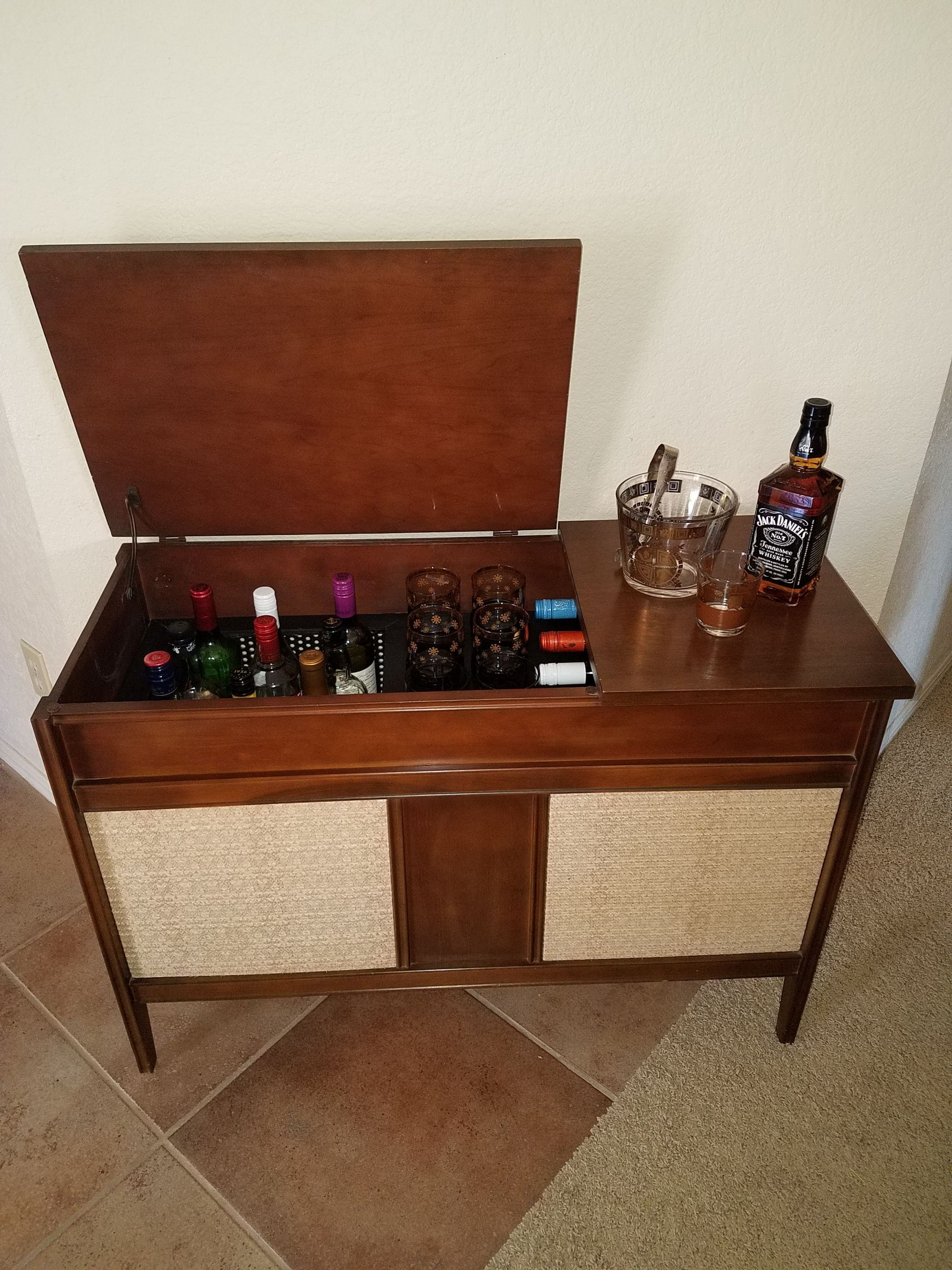 This Mid Century Bar Was Repurposed From A Vintage Ge Record