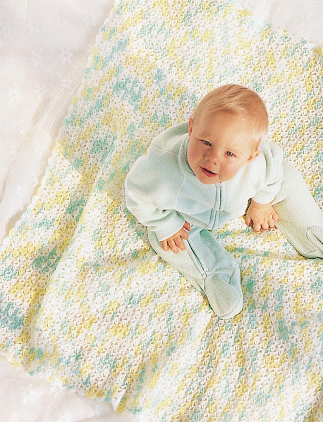 Yarnspirations.com - Bernat Shell Baby Afghan - Patterns ...