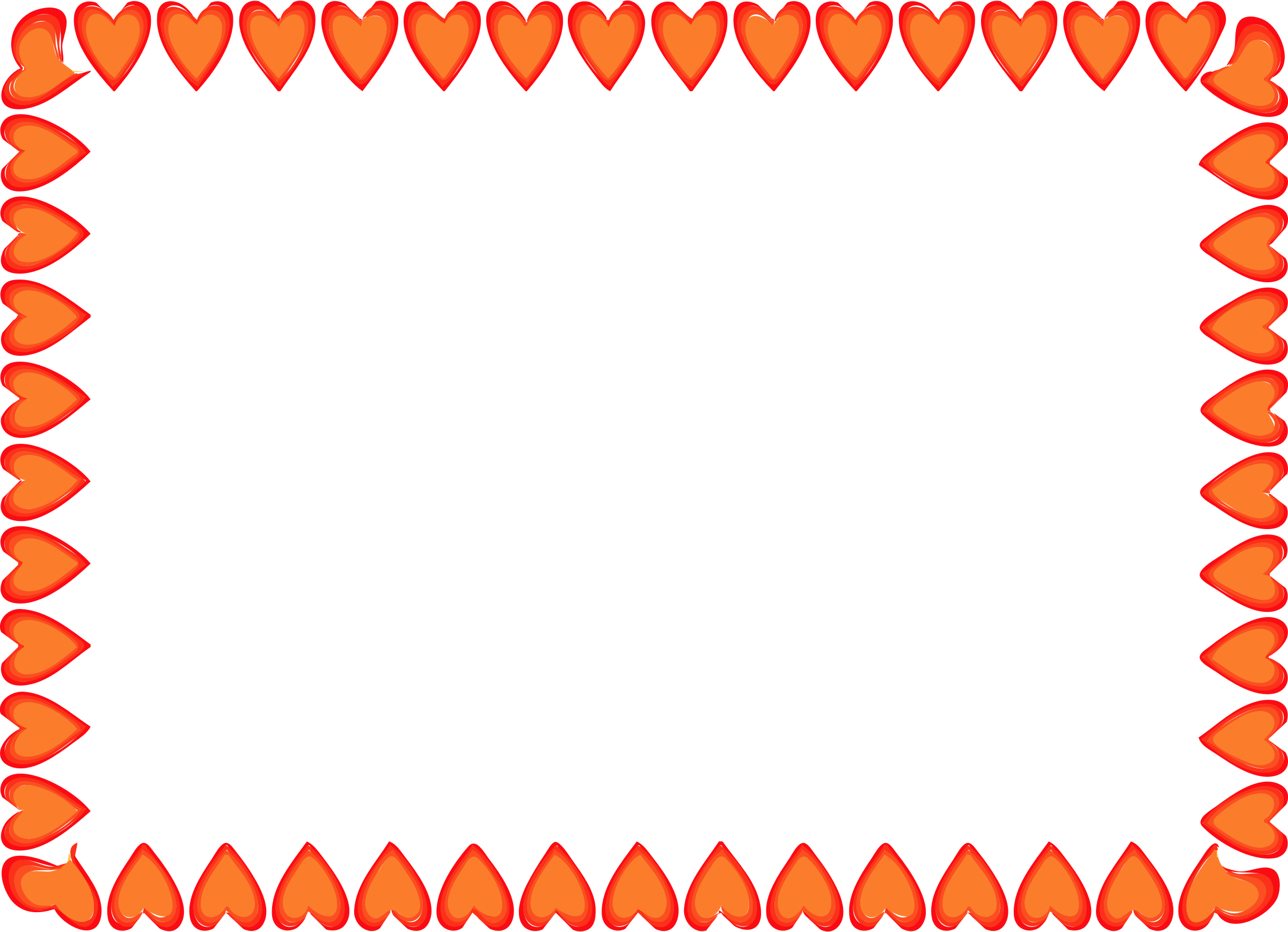Red Hearts Border By Islandvibz A Simple Rectangular Border Made Of Red Hearts On Openclipart Red Heart Heart Border Border