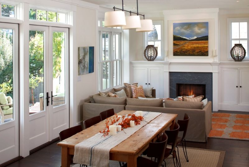 The Simple Informal Farmhouse Concept Was Inspiredthe Old Impressive Living Room Dining Room Layout Ideas Design Inspiration