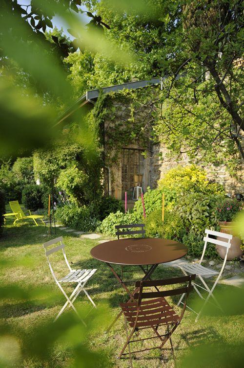 Chaise métal Bistro, chaise en métal, mobilier de jardin | Flowers ...