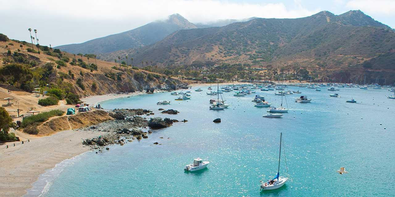 Two Harbors, Catalina Island California beach camping