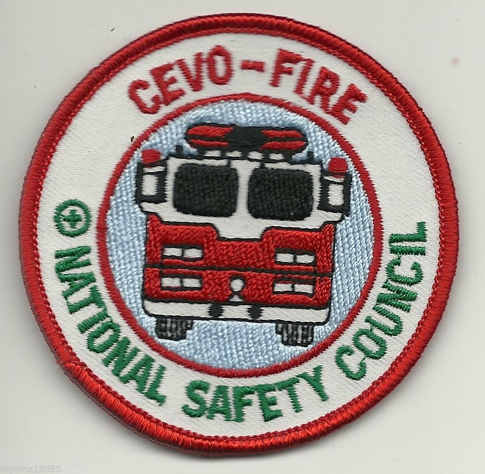 Cevo Fire National Safety Council Patch * National