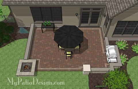 Relaxing Outdoor Living Design with Pergola and Hot Tub | Download Plan – MyPatioDesign.com #backyardremodel