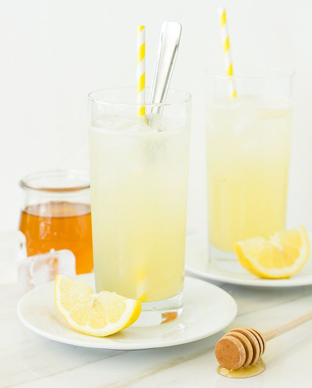 Honey-Lemon Gin Rickey   14 Delicious Holiday Cocktails That Actually Aren't Horrible For You