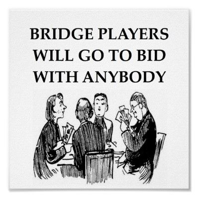 Who knew Bridge players were so loose?