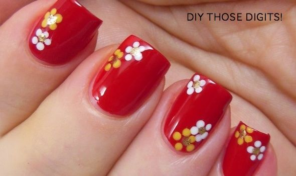 Sassy Hong Kong, 2/4/13: DIY Chinese New Year manis – (flowers, red ...