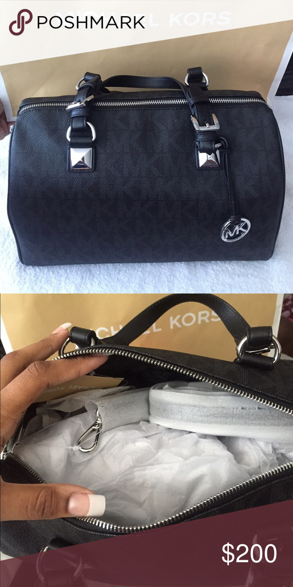 New Black Michael Kors Large Grayson Satchel Brand new never used with tags. Black with silver hardware. Michael Kors Bags Satchels