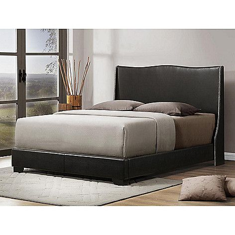 Baxton Studio Duncombe Modern Bed W Upholstered Queen Headboard On Sale At Shophq Com Queen Upholstered Headboard Upholstered Platform Bed Modern Bed