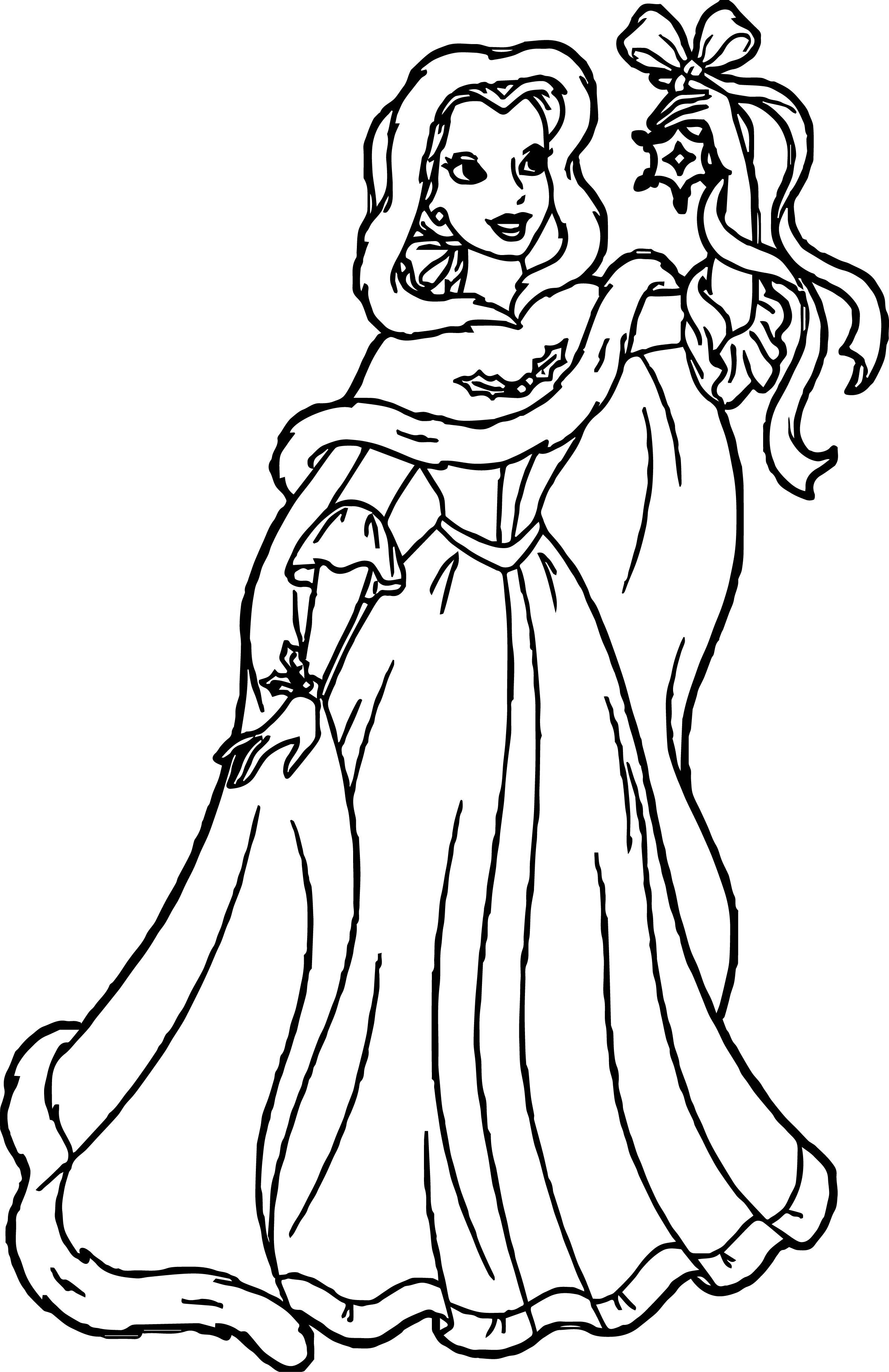Cool Belle Disney Star Princess Coloring Page