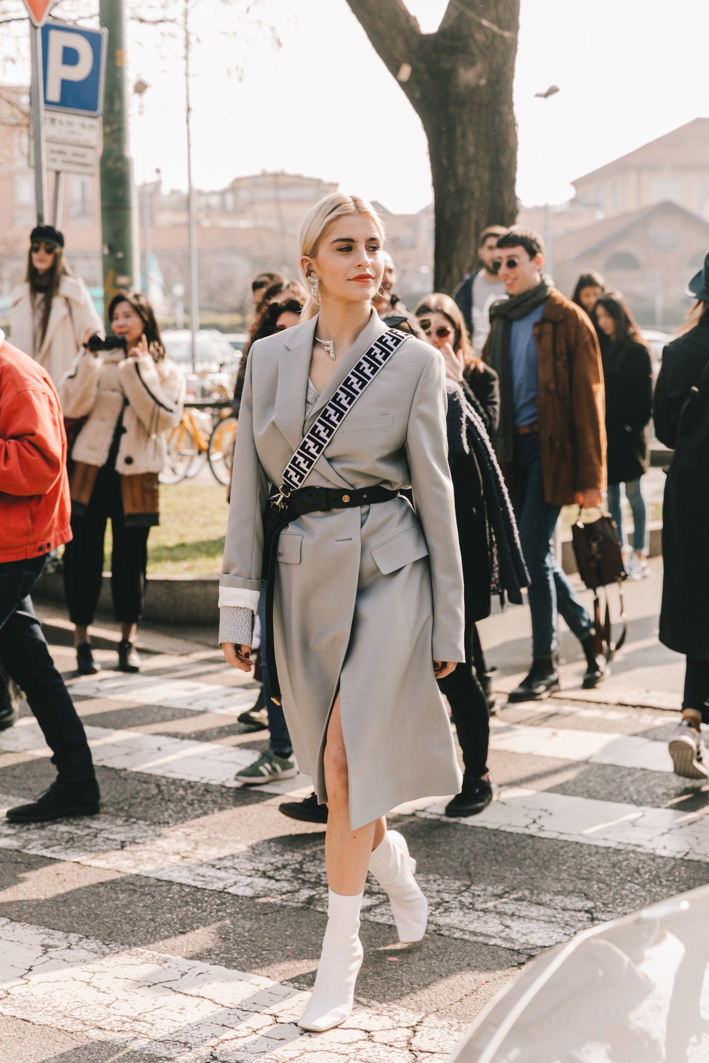 Street style à la Fashion Week automne,hiver 2019,2020 de