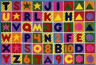 Lts 300 Numbers And Letters Rug 3 Ft 3 X 4 Ft 10 By