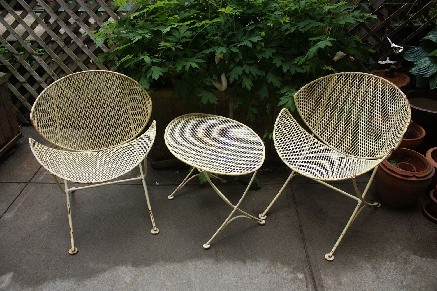 Mid Century Patio Furniture Vtg Mid Century Salterini Orange Sl