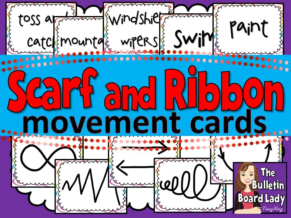 Scarf And Ribbon Movement Cards Dance Music Classroom