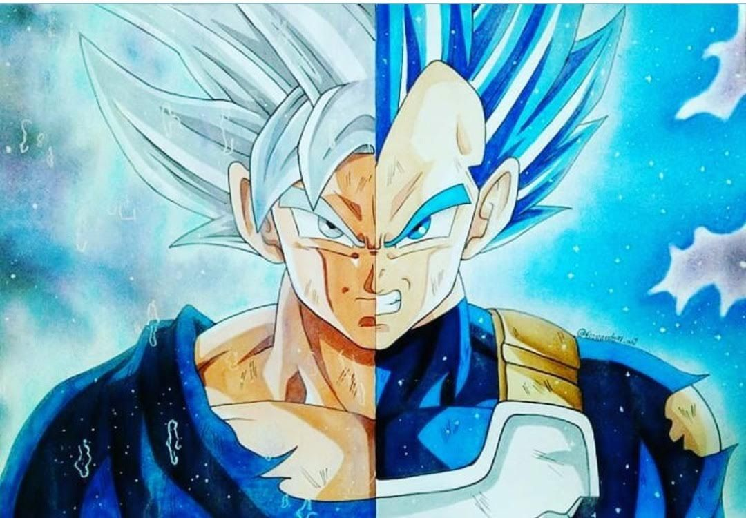 Ultra Instinct Goku And Blue Vegeta Dokkan Goku Pics Anime Dragon Ball Super Wallpapers