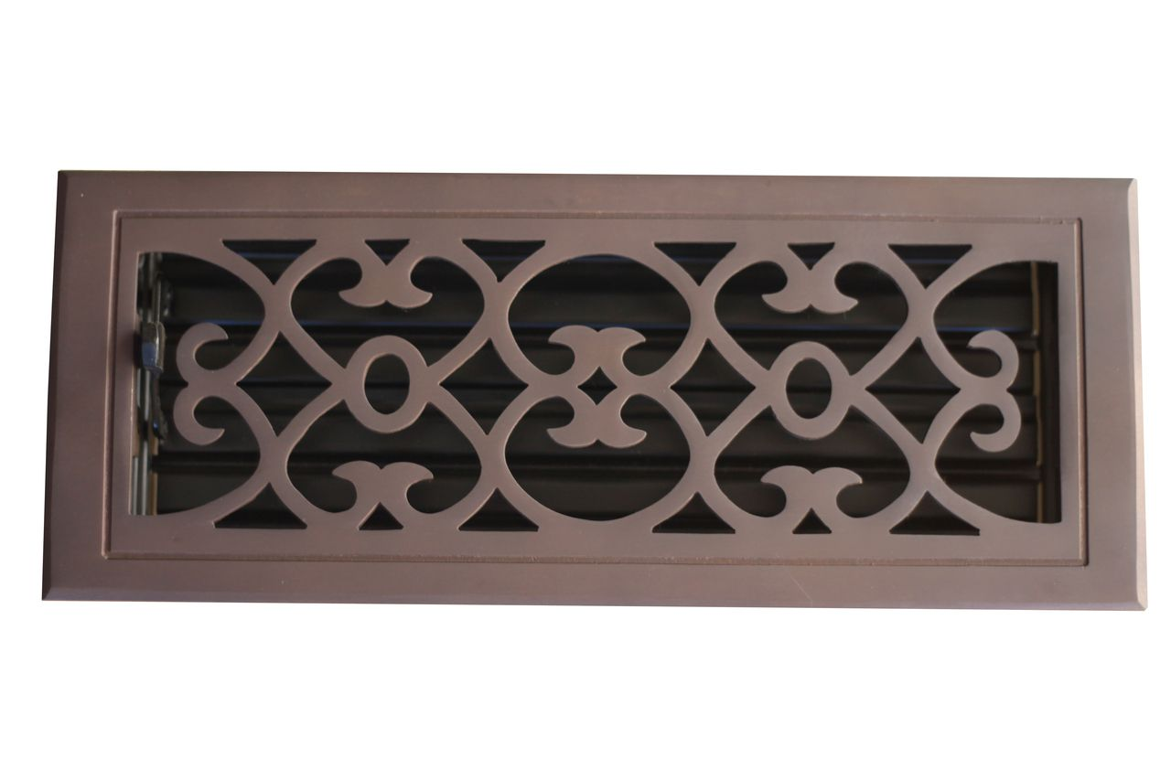 4 X 10 Oil Rubbed Bronze Victorian Floor Register Solid Br Vent Covers