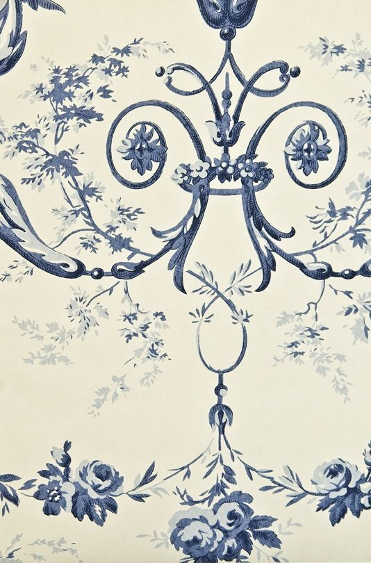 Toile d'Albert Wallpaper Traditional French floral ...