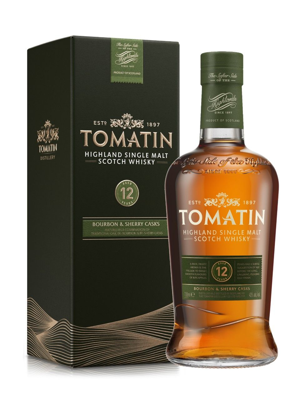 Tomatin 12 Year Old Highland Single Malt Malt Whisky Scotch Whisky Whisky Bottle