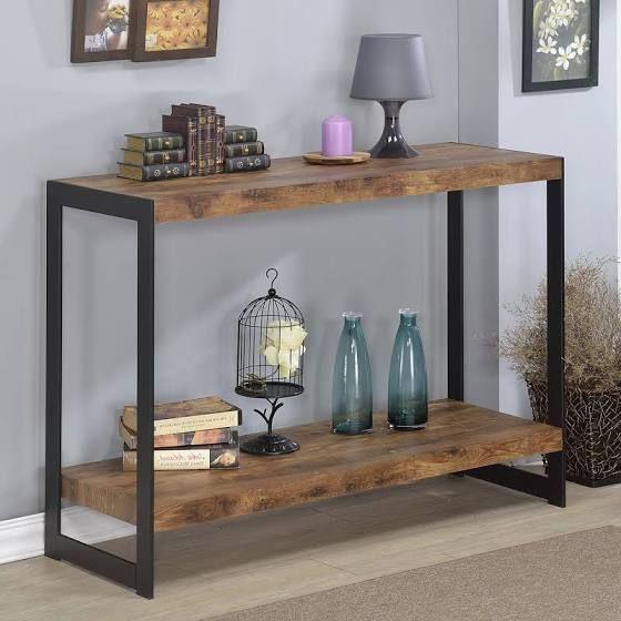 Wood And Metal Sofa Table Decoracao Quarto E Sala Decoracao De